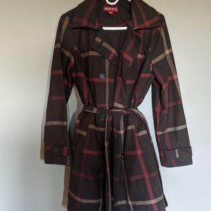 M Gorgeous Plaid/checked Trenchcoat from Merona